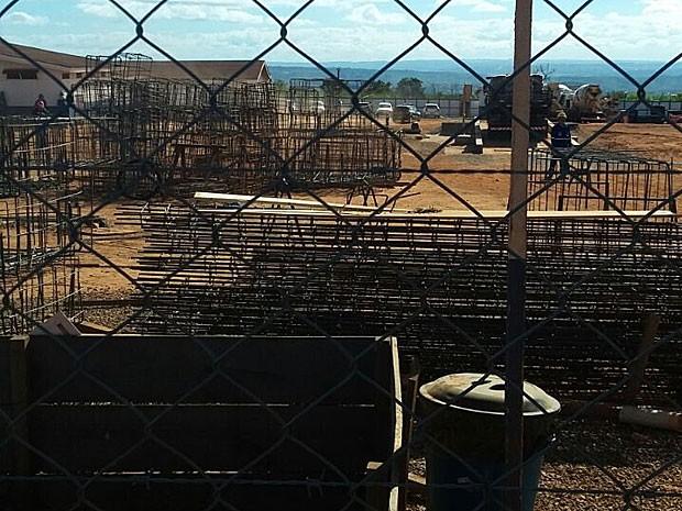 Canteiro de obras no Complexo Penitenciário da Papuda, em Brasília (Foto: Sindicato dos Trabalhadores das Indústrias da Construção e Mobiliário de Brasília/Divulgação)