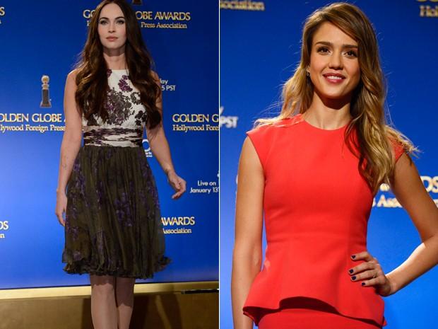 Megan Fox e Jessica Alba anunciaram a lista de indicados ao Globo de Ouro (Foto: Reuters/Phil McCarten)