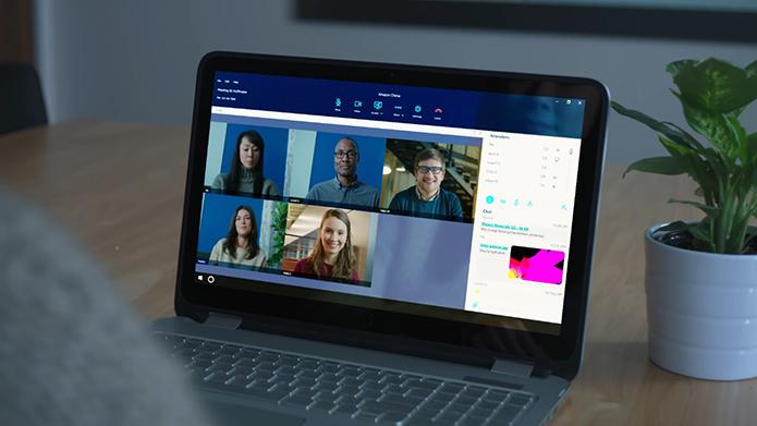 Amazon Chime oferece videochamada para até 100 pessoas (Foto: Reprodução/Amazon)