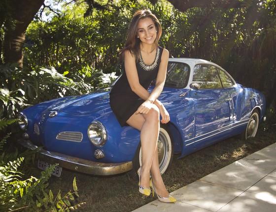 Millena Machado, do Auto Esporte, foi inspirada pela prima, deficiente auditiva, a lançar a campanha (Foto: Rafael Renzo)