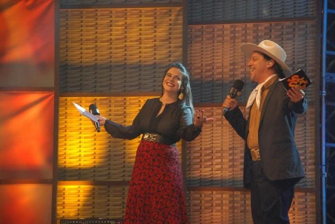 Shana Müller e Neto Fagundes Galpão Crioulo Pejuçara (Foto: Tobias Zamberlan/Prefeitura de Pejuçara)