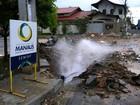 Tubulação se rompe em cruzamento na Zona Leste de Manaus