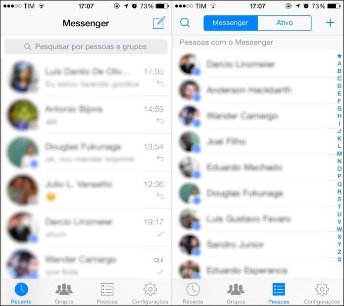 Abra o aplicativo de bate-papo do Facebook (Foto: Reprodução/Helito Bijora)