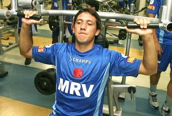 Pedro Vera no treino do Vasco (Foto: Fotocom.net)