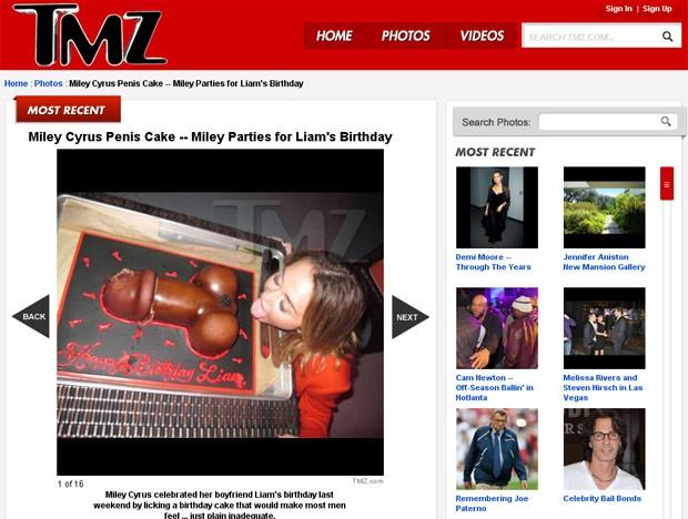 Miley Cyrus bolo (Foto: TMZ/Reprodução)