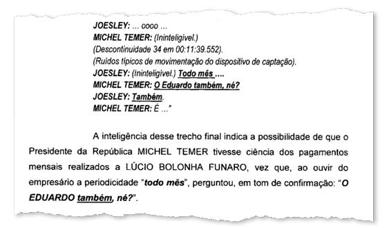 """Exclusivo, relatório final da PF: Temer deu aval a silêncio de Funaro e Cunha. """"O Eduardo também, né (sobre pagamento de dinheiro)?"""" (Foto: ÉPOCA)"""