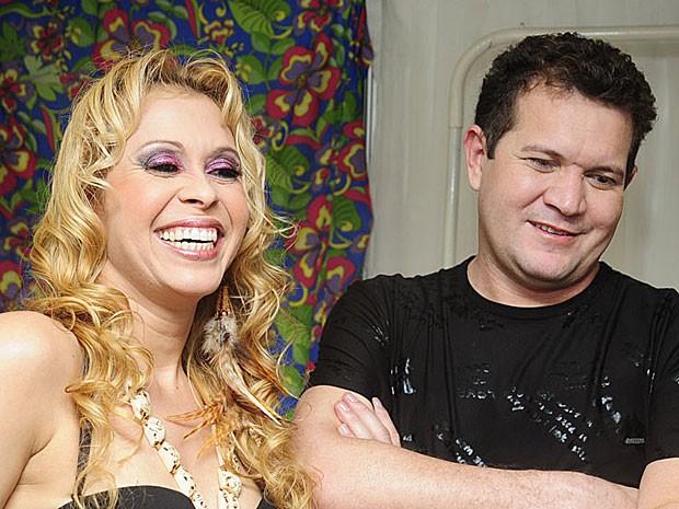 Banda Calypso, nos bastidores do São João da Capitá (Foto: Adriana Noya / G1)