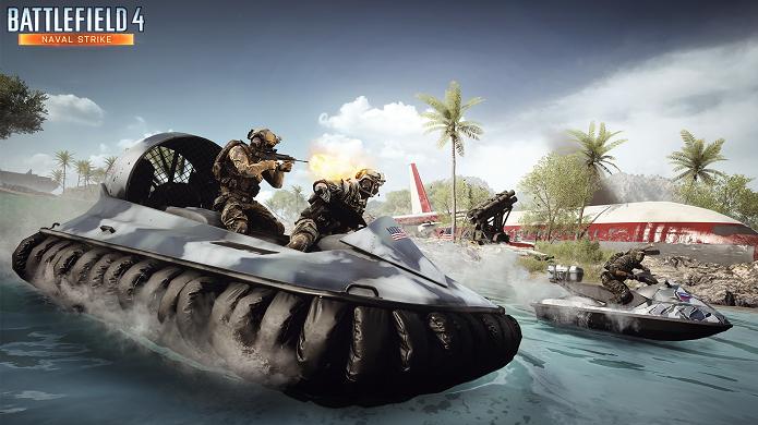 Battlefield 4 trará hovercrafts no novo DLC Naval Strike. (Foto: Divulgação)