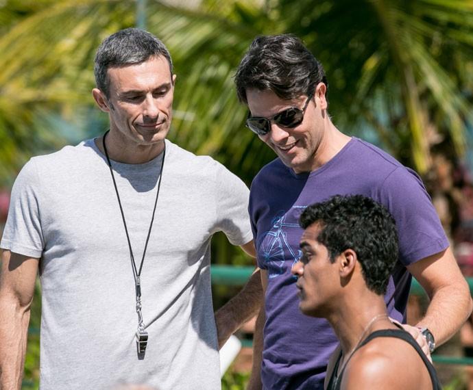 Ivan recebe incentivo de todos para treinar em piscina olímpica (Foto: Isabella Pinheiro/Gshow)