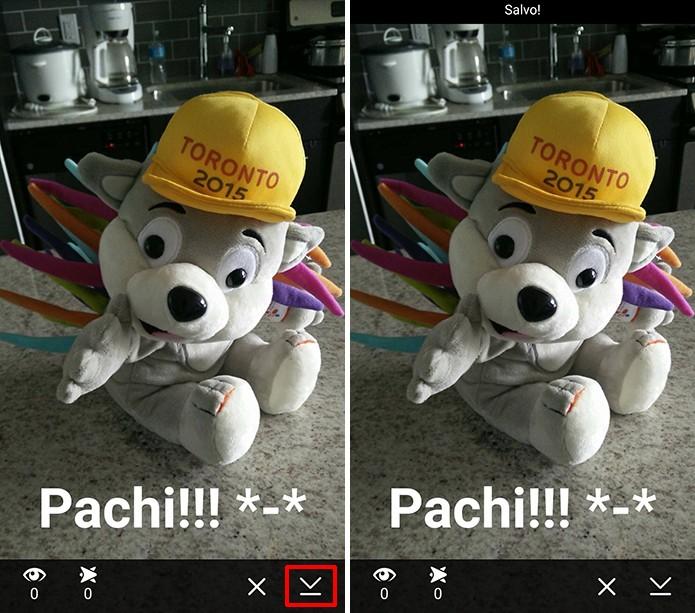 Snapchat permite que usuário salve suas histórias antes que elas desapareçam (Foto: Reprodução/Elson de Souza)