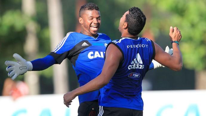 Felipe e André Santos treino Flamengo (Foto: Márcio Mercante/Agência Estado)
