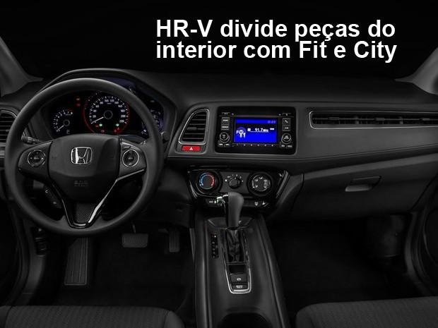 Honda HR-V tem interior bem construído (Foto: Divulgação)