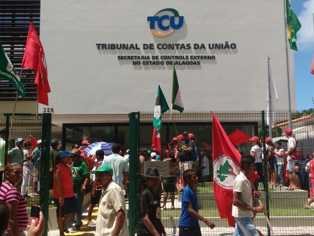 Ocupação na sede do TCU é por tempo indeterminado (Foto: Márcio Chagas/G1)