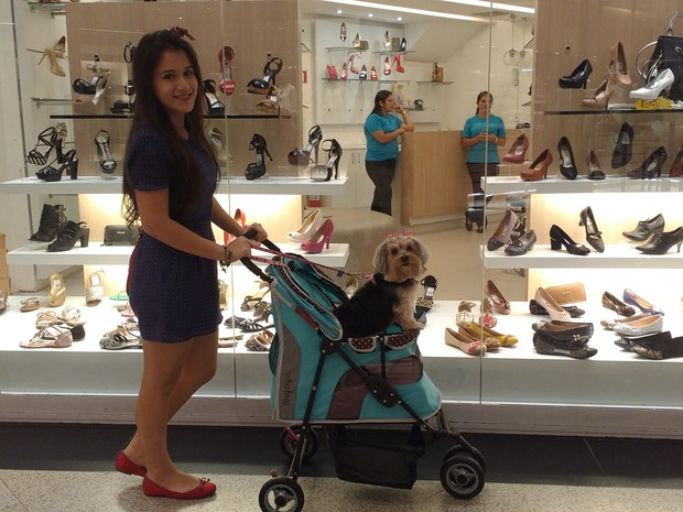 Shoppings de Belém abrem as portas para animais (Foto: Thais Rezende/G1 PA)