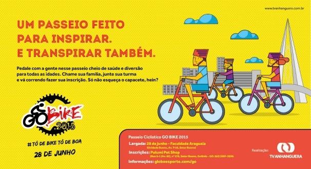 TV Anhanguera realiza seu 1º passeio ciclístico GO BIKE (Foto: TV Anhanguera)
