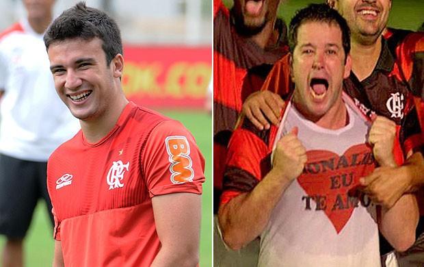 Lucas e Tufão, Flamengo (Foto: Editoria de Arte / Globoesporte.com)