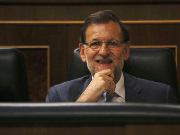 O premiê da Espanha Mariano Rajoy no Parlamento de Madri em foto do dia 11 de setembro (Foto: Sergio Perez/Reuters)