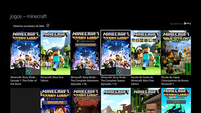 Selecione o Minecraft: Story Mode na loja (Foto: Reprodução/Murilo Molina)