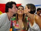 Milena Toscano e Marcelo Serrado vão na 'ressaca' do bloco de Preta Gil