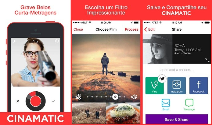 Faça vídeos curtos e envie para diferentes redes sociais (Foto: Divulgação/AppStore)
