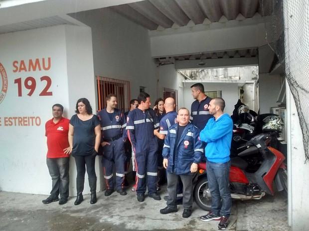 Profissionais do Samu, Upas e Assistência Social cruzam os braços em Florianópolis (Foto: Divulgação)