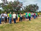 Cerca de 100 pessoas se manifestam contra corrupção, em Altamira