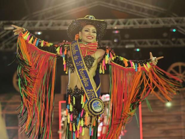 Jeniffer Pinheiro foi eleita a rainha da Expofeira 2015 (Foto: Divulgação/ Governo do Amapá)