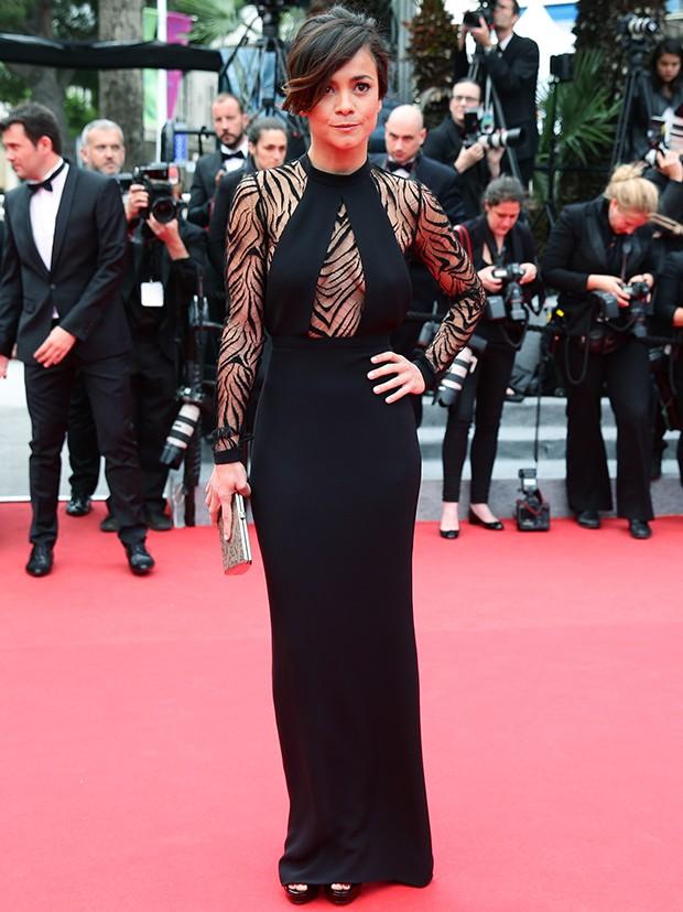 Alice Braga no 6º dia do Festival de Cannes (Foto: Agência Getty Images)
