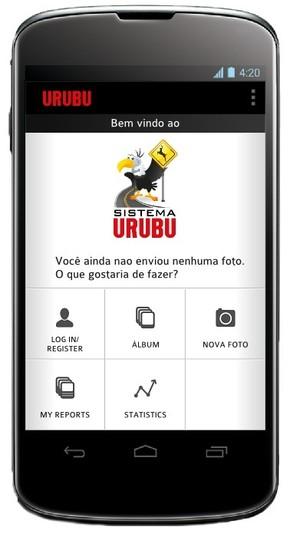 Imagem do aplicativo na tela de um celular (Foto: Divulgação)