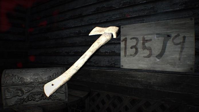 Puzzle secreto de Resident Evil 7 faz jogo de luz e sombras (Foto: Reprodução/Felipe Demartini)