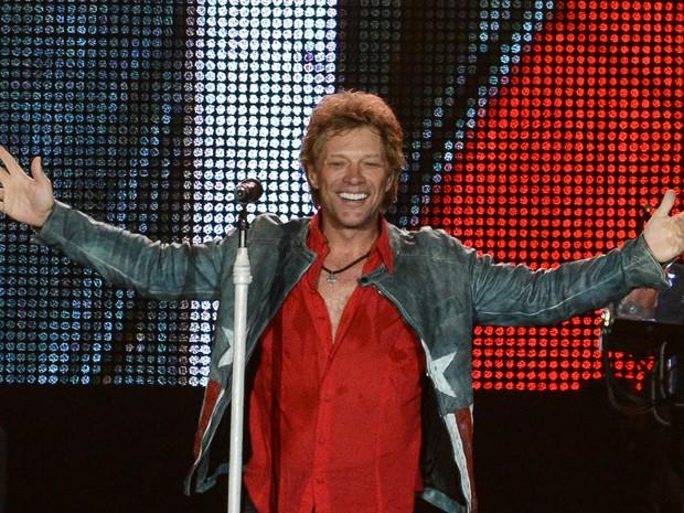 Bon Jovi no último show da quinta noite do Rock in Rio (Foto: Flavio Moraes/G1)