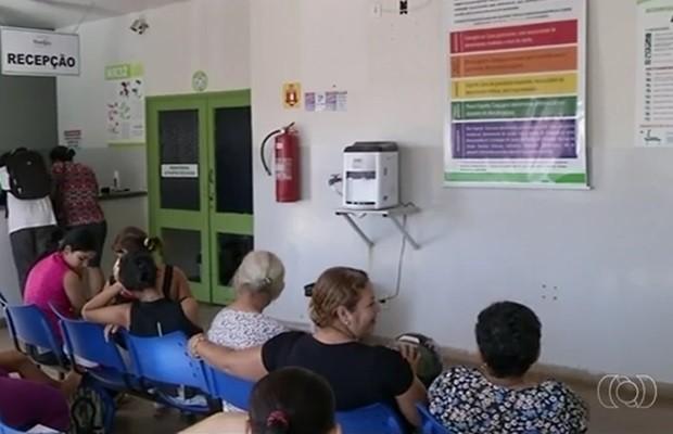 Dona de casa que morreu com suspeita de H1N1 estava internada no Hospital Municipal de Porangatu, em Goiás (Foto: Reprodução/TV Anhanguera)