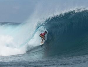 Gabriel Medina lutou em busca do bicampeonato, mas teve de se contentar com o vice em Teahupoo no Taiti (Foto: Divulgação/WSL)