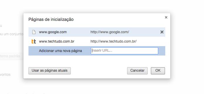 Definindo site como página inicial (Foto: Reprodução/Helito Bijora)