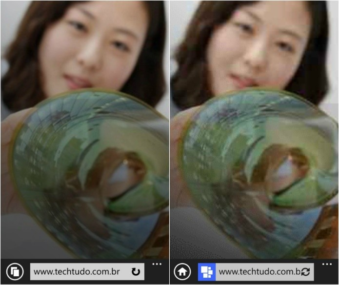 Qualidade da imagem é reduzida (Foto: Reprodução/Helito Bijora)