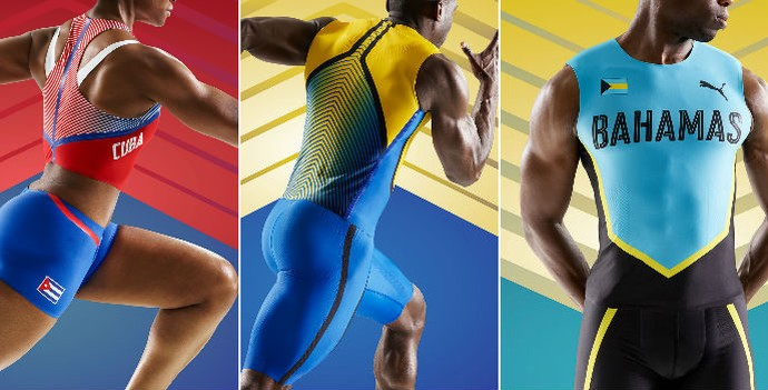 uniformes; atletismo; cuba; bahamas; barbados; puma (Foto: Divulgação/Puma)