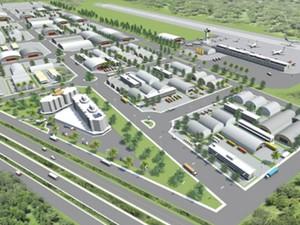 Projeto do Complexo Empresarial e Aeroportuário Andaraguá (Foto: Divulgação/ ICIPAR)