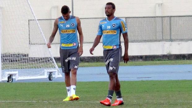 rafael marques elias botafogo treino (Foto: Thales Soares)