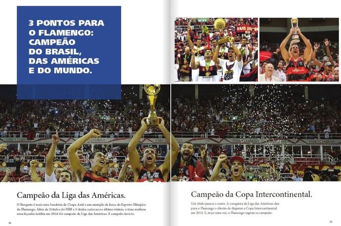 Revista Flazul deixa a marca da Sky escondida no texto sobre o basquete (Foto: Reprodução)