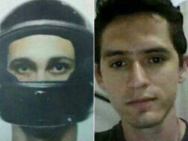 Montagem divulgada em redes sociais com retrato falado do serial killer e foto de Rafael, em Goiânia, Goiás (Foto: Reprodução/ Polícia Civil)