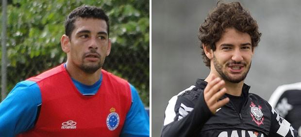 Montagem Diego Souza e Pato Cruzeiro x Corinthians (Foto: Montagem sobre foto de Divulgação)