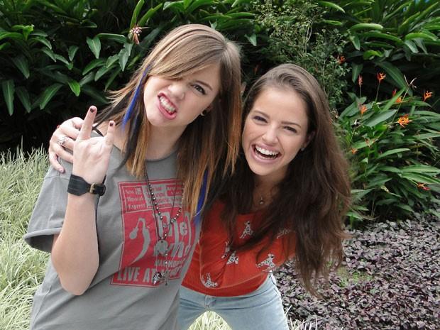 Alice Wegmann e Ágatha Moraes serão as amigas de infância Lia e Ju (Foto: Malhação / Tv Globo)