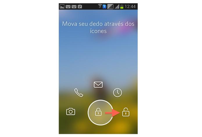 Desbloqueando a tela do Android com o Start (Foto: Reprodução/Marvin Costa)