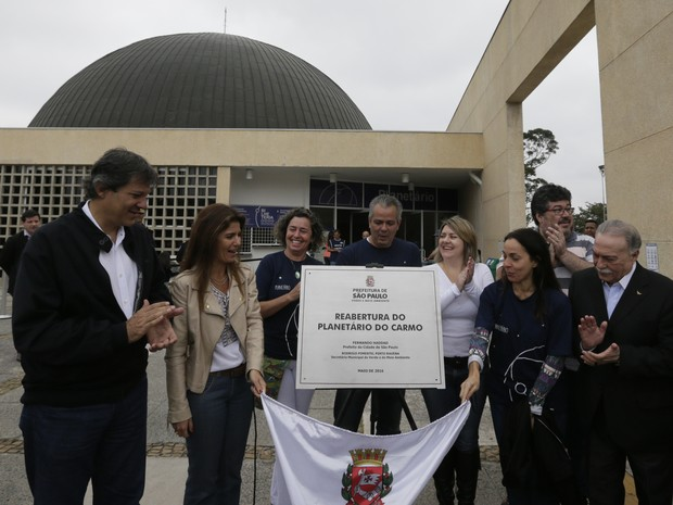 Prefeito Fernando Haddad reabre planetário no Parque do Carmo, em São Paulo (Foto: Cesar Ogata/SECOM)