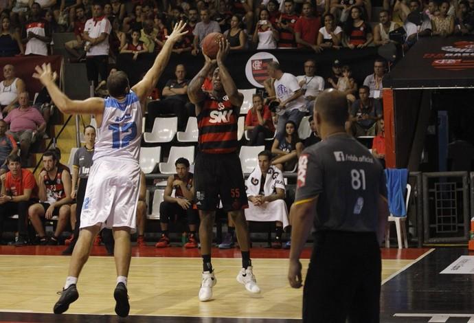Flamengo x Rio Claro, basquete, NBB, Ginásio do Tijuca (Foto: Reprodução/Twitter NBB)