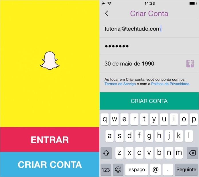 Crear cuenta Snapchat (Foto: Reproducción / Helito Bijora) (Foto: Creando cuenta Snapchat (Foto: Reproducción / Helito Bijora))