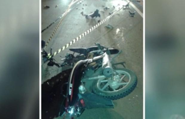 Homem que dirigia ciclomotor na contramão morre em acidente na BR-060, em Rio Verde, Goiás (Foto: Reprodução/ TV Anhanguera)