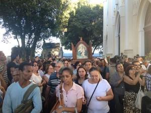 Enterro do padre em Salvador (Foto: Ruan Melo/G1)