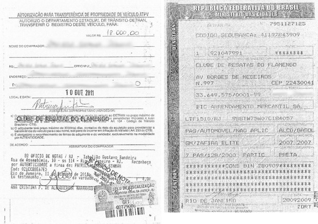 flamengo documentos carro (Foto: Reprodução)