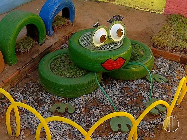 banco para jardim natal rn: para centro infantil de Pureza (Foto: Reprodução/Inter TV Cabugi